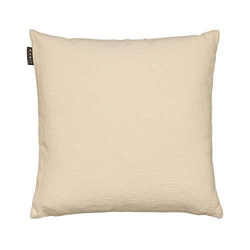 LINUM PEPPER Eleganter Kissenbezug für Dekokissen 50cm x 50cm, 100% Baumwolle, Maschinenwaschbar, Cremebeige