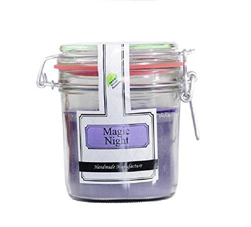 Parfums Boutique Magic Night geurkaars in vintage glazen pot, lila, 13 cm x 13 cm x 12 cm, 1106372MN