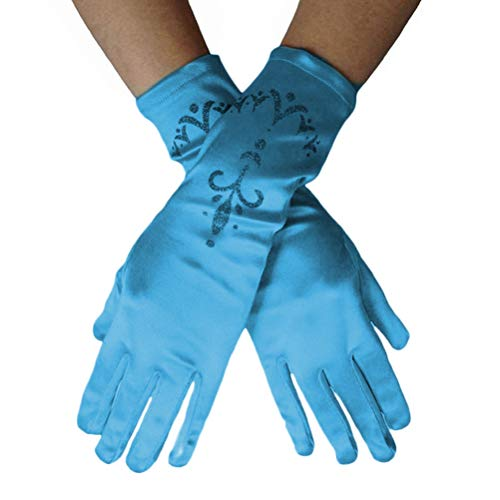 Hihey Girl Gloves Princess Costume Accesorio Princess Glove Cinderella para Nias Nios Cosplay Disfraz