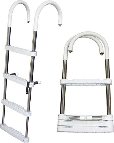 JIF Marine Telescoping Pontoon Products Ladder 3-Step Safety and trust Discount mail order 39
