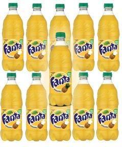 Fanta Pineapple 20oz Bottles pack of 12  total of 240 FL OZ