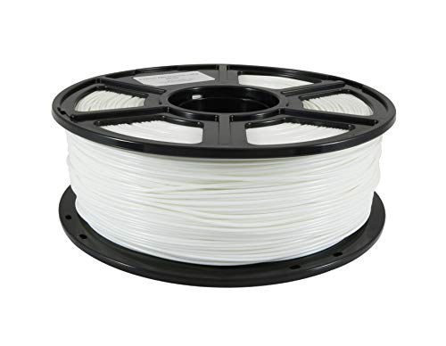 FlashForge ABS White Filament 1.75mm / 2.2 lb (1KG) for Creator Series (Pro, X, Wood) 3D Printers