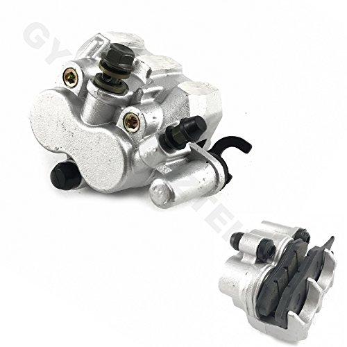 Pinza de freno de 2 pistones, parte delantera, placa de soporte intercambiable, por ejemplo, para Kymco Jager 50 Grand DINK 50 Grand DINK 50 GRAND DINK 125, moto de 4 tiempos