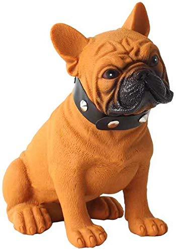 Bulldog Speaker,Bulldog Portable Speaker,French Bulldog Speaker,Gift to Friends Boy Girl Birthday Christmas, Suitable for Mobile Phones, Laptop, Tablets, TV Bluetooth Speakers,Brown,L