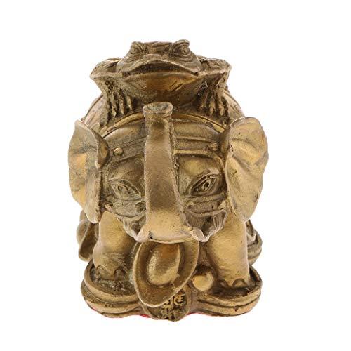 MagiDeal Feng Shui Adjuntando Dinero Lucky Fortune Wealth Decor Rana Toad Coin Ornament - Metro