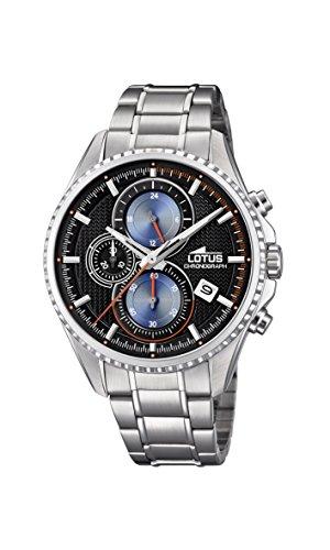 Lotus Watches Reloj Cronógrafo para Hombre de Cuarzo con Correa en Acero Inoxidable 18526/5