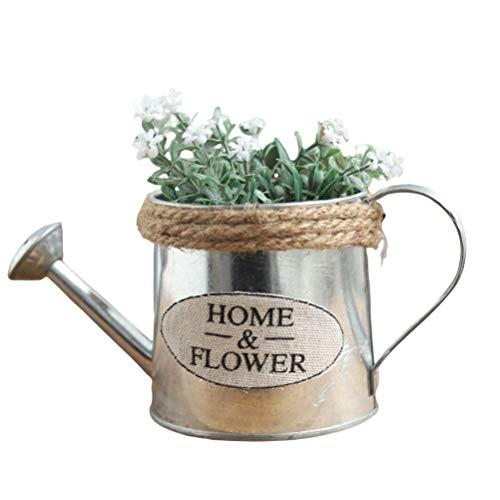 Regadera de Hierro, Regadera de Metal, Cubo de Lata de jardín, Cubo de Maceta de Hierro Vintage, Regadera de decoración del hogar