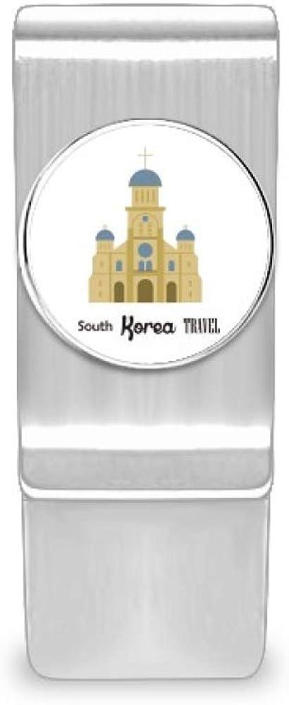 South Korea Landmarks San Antonio Mall The Church Money Card Wallet Hol Cash Clip Quantity limited