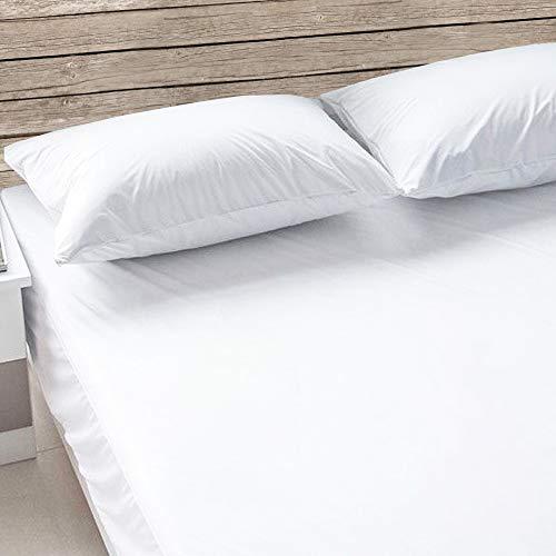 Giovanni Dolcinotti Cubrecolchón para cama de matrimonio King 180 x 200 cm – de jersey extensible de rizo jacquard – transpirable y absorbente – blanco – Fabricado en Italia