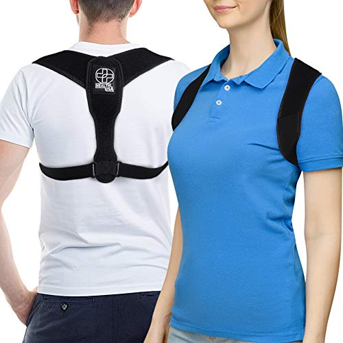 Posture Corrector for Men and Women Breathable & Adjustable Upper Back Straightener Posture Support Back Brace for Neck, Lower Back, Lumbar Support and Shoulder Pain Relief