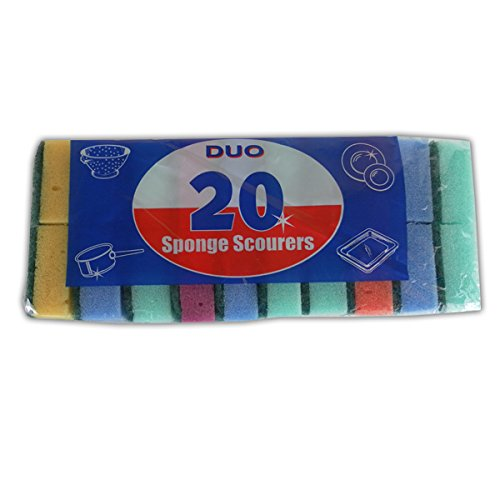 Price comparison product image PMS EAZEE 2 Clean PK20 Sponge SCOURERS in Printed Bag