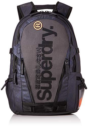 Superdry Herren Misty Tarp Backpack Rucksack, Blau (Blue Aop), 28x45x12 cm