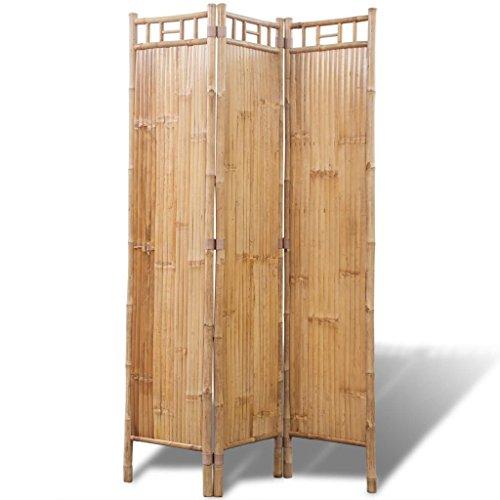 vidaXL Raumteiler 3-TLG. Bambus Paravent Trennwand Sichtschutz Spanische Wand