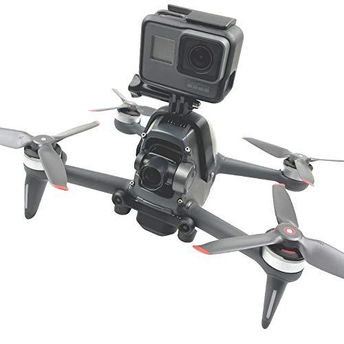 MotuTech - Soporte de extensión superior para DJI FPV Drone Connecter Cámara Panorámica Cámara de Acción Accesorios para GoPro Hero 9 8, etc. Cámara VR