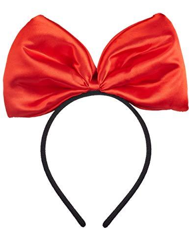 Balinco Haarreif in schwarz mit großer roter Schleife für Kinder & Erwachsene