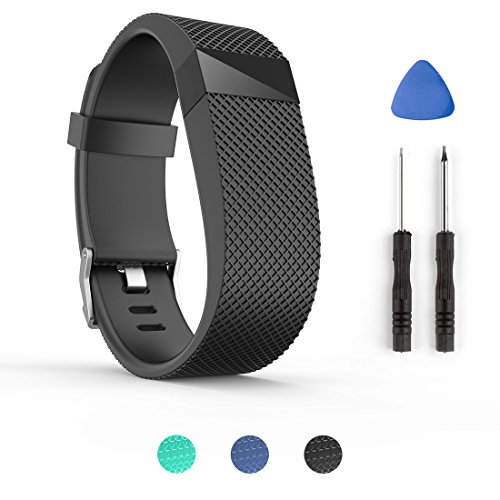 Fitbit Charge HR Armband,Tosenpo Silikon Ersatz Kleine Große Band Armband Strap für Fitbit Charge HR Wireless Activity Wristband