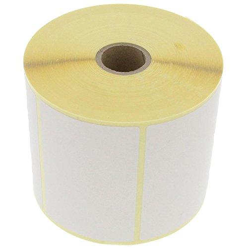 foto-kontor Etiketten 90 x 60 mm Thermo Direkt 1000 Stück pro Rolle Weiß Selbstklebend Permanent