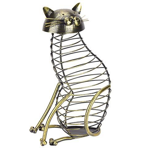 FOLOSAFENAR Contenedor de Corcho para Gatos, contenedor de Corcho para Vino, Superficie Delicada, Forma única de Gato Sentado para la Cocina, para la decoración de la casa