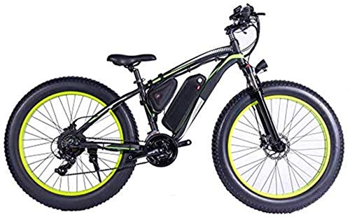 min min Bike,1000W Electric Bicycle, 26' Mountain Bike, Fat Tire Ebike, 48V 13AH Lithium Ion Battery Suspension Fork MTB (Color : White) (Color : Black)