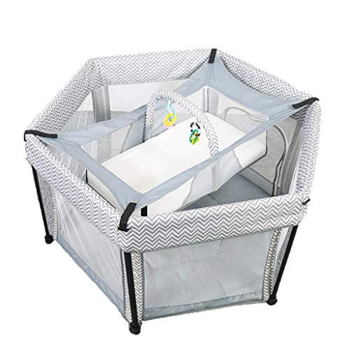 WFWT Plegable del bebé de la Cuna 2 en 1 Cama de bebé Ultra Suave, Transpirable, Hojas Universal Armarios para niños y niñas con Bolsa de Almacenamiento y Juguetes pequeños