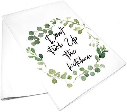 vizuzi Funny Kitchen Humor Tea Dish Hand Towels for Kitchen Home Decor Thanksgiving product image