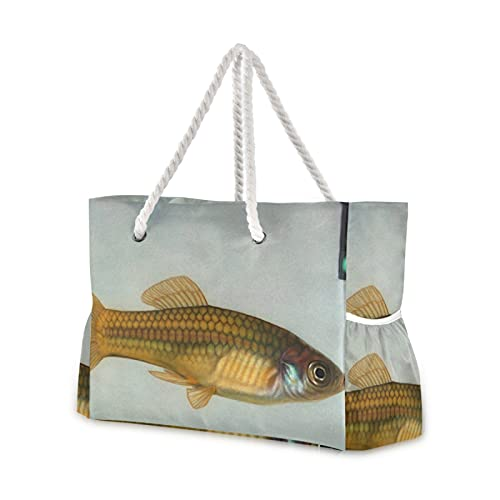 Bolsa de playa Go Fish Bolsa de piscina, bolsa de hombro para...