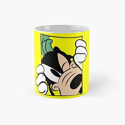 Taza clásica con diseño de camiseta de Goofy, taza de café divertida, 325 ml