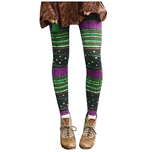 YAAY Leggings delgados y ligeros de cintura alta para mujer, diseño floral, con estampado de mariposas