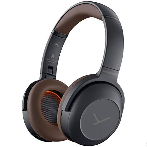 Música Auriculares de cancelación de ruidos, auriculares inalámbricos a los auriculares Bluetooth, audio de alta resolución, tazas de orejas de espuma, para viajes a la oficina en casa Resistente al s