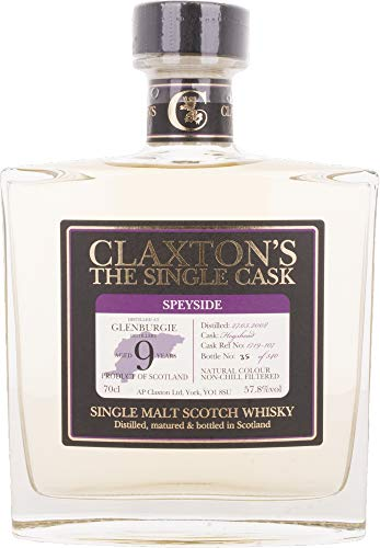 Claxton's The Single Cask GLENBURGIE 9 Years Old  Whisky (1 x 0.7 l)