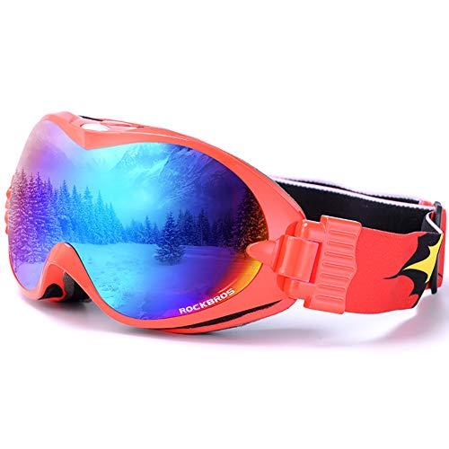 WZ YDTH Skibril, anti-condens, 100% UV-bescherming, compatibel met helm, unisex skibril, masker verwisselbare lenzen-premium skibril
