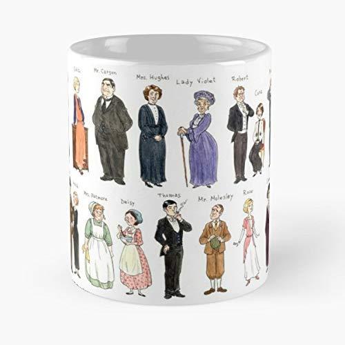 Lplpol Downton Abbey Fanart Aquarell Design – das beste Geschenk für Urlaub Kaffee Tee Tassen