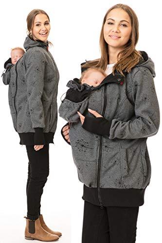 GoFuture® - Chaqueta portabebés 5 en 1, para Llevar en el Pecho y la Espalda, Chaqueta Normal, Sudadera