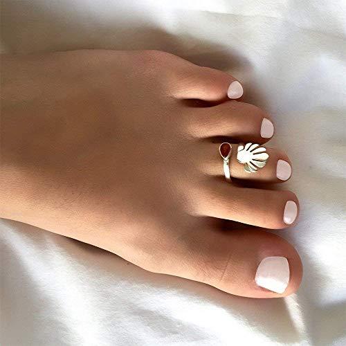 Zehenring für Frauen - Silber Zehenring - Verstellbarer Zehenring - Fussring - Fußring - Fußschmuck - Fingerringe - Geschenk fuer Damen -...