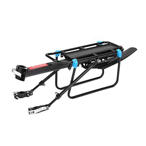 Excras - Soporte de carga para bicicleta con guardabarros (50 kg, capacidad de liberación rápida, ajustable, con reflector trasero