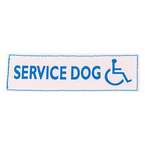 EzyDog Side Badge - Clearly Identifies Your Dog When Wearing The Convert Dog Harness - Set of Two Badges (Service Dog with Wheelchair, Small)
