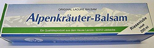 200 ml ORIGINAL LACURE RIESENTUBE ALPENKRÄUTER BALSAM CREME TUBE SALBE MASSAGE