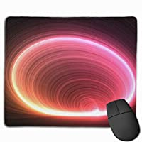 """Abstract Circles Lines Light Mouse Pad Non-Slip Rubber Gaming Mouse Pad Rectangle Mouse Pads for Computers Desktops Laptop 9.8"""" x 11.8"""""""