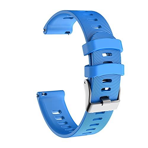 YNLRY Correa de silicona para reloj Garmin Forerunner 245 245M Vivoactive 3 para Garmin Forerunner 645 635 Vivomove HR Bracelet Correa (color azul)