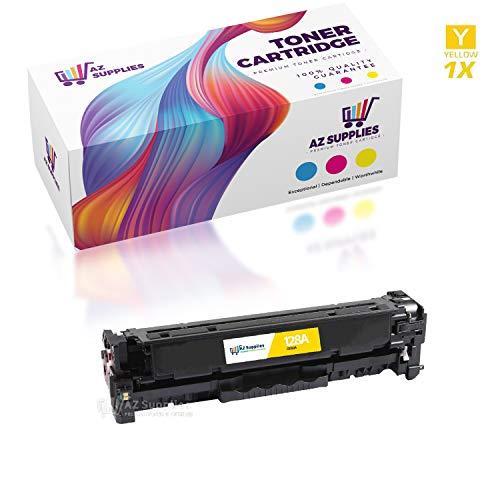 AZ Compatible Toner Cartridge Replacement for HP 128A CE322A use in Color Laserjet CM1415 Color Laserjet CM1415FNW Color Laserjet CP1525 Color Laserjet CP1525NW (Yellow, 1-Pack)