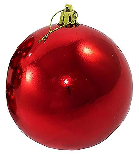 Annastore XXL Weihnachtskugeln groß für den Außenbereich, frostsicher und wetterfest 20 oder 30 cm Farbe Rot, Größe Ø 30 cm