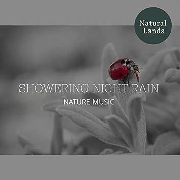 Showering Night Rain - Nature Music