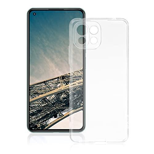 ROVLAK Funda para XiaoMi MI 11 Lite5 G Case Slim Transparente con Función Anti Amarillamiento Cover TPU Silicona Case+Funda Antigolpes Protección Completa del Cuerpo para XiaoMi MI 11 Lite5 G