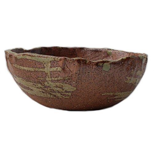 Bonsai Pot Ceramic Round Shape Reduction Fired Brush Marks (7')