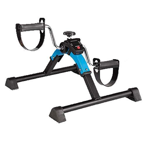 XJZHANG Plegable Mini LCD Bicicleta estática Portátil Pedal de Interior Bicicleta estática Gimnasio Fitness Brazo y Pierna Cardio Entrenador Resistencia Ajustable Inicio Cardio Fitness Machine