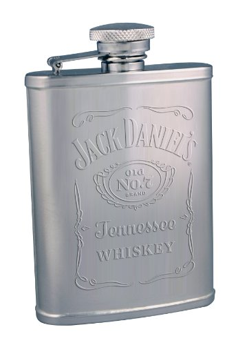 Jack Daniel's Licensed Barware Embossed Label Flask, 3-Ounce