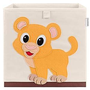CLCROBD Foldable Animal Cube Storage Bins Fabric Toy Box/Chest/Organizer for Kids Nursery, 13 inch
