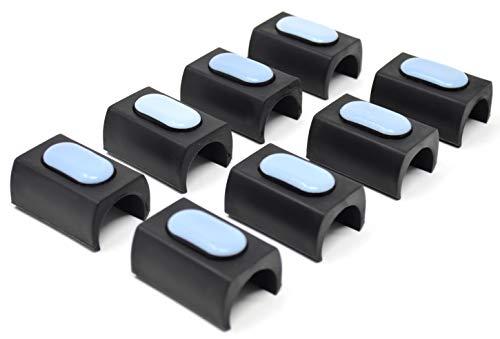 Design61 PTFE 8er Set für Gleiter Freischwinger Stuhlgleiter Ø 23-25 mm Möbelgleiter Klemmschalengleiter