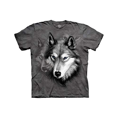 The Mountain Jungen T-Shirt Wolf Portrait Gr. Youth Large (Age 10-12), grau