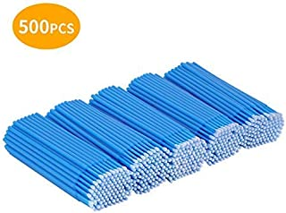 Cuttte 500 PCS Disposable Micro Applicators Brushes Latisse Applicator for Eyelashes Extensions and Makeup Application (Head Diameter: 2.5mm)